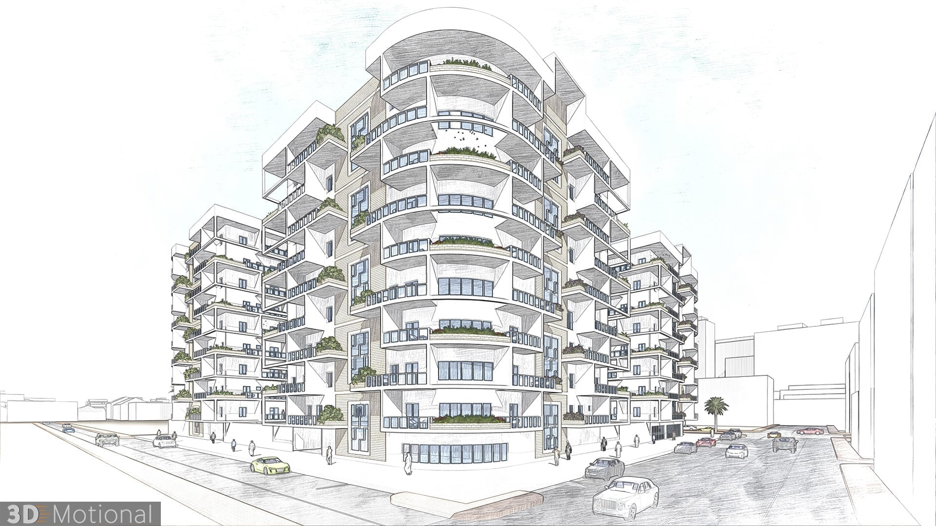 Modern Complex Housing Project - Al Dammam - sketch (4)