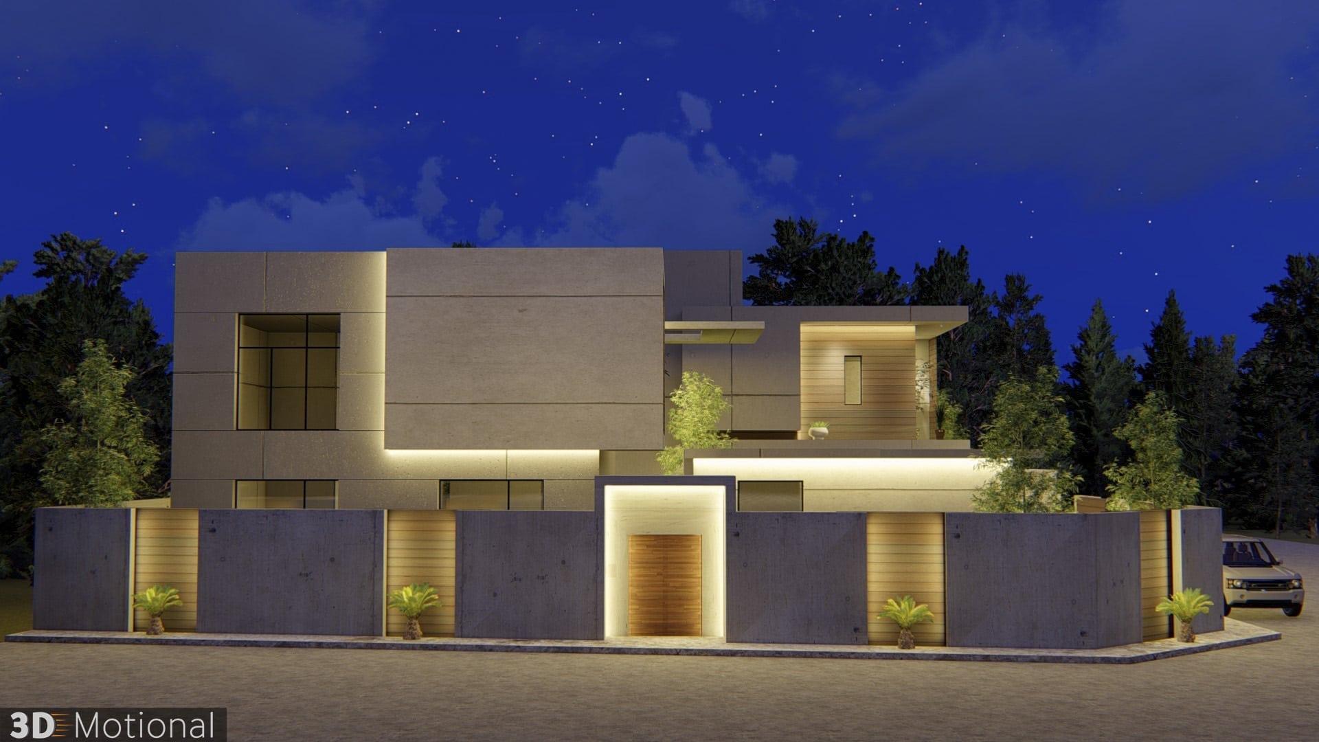 Modern Private Villa Exterior Animation - Al Khobar (4)
