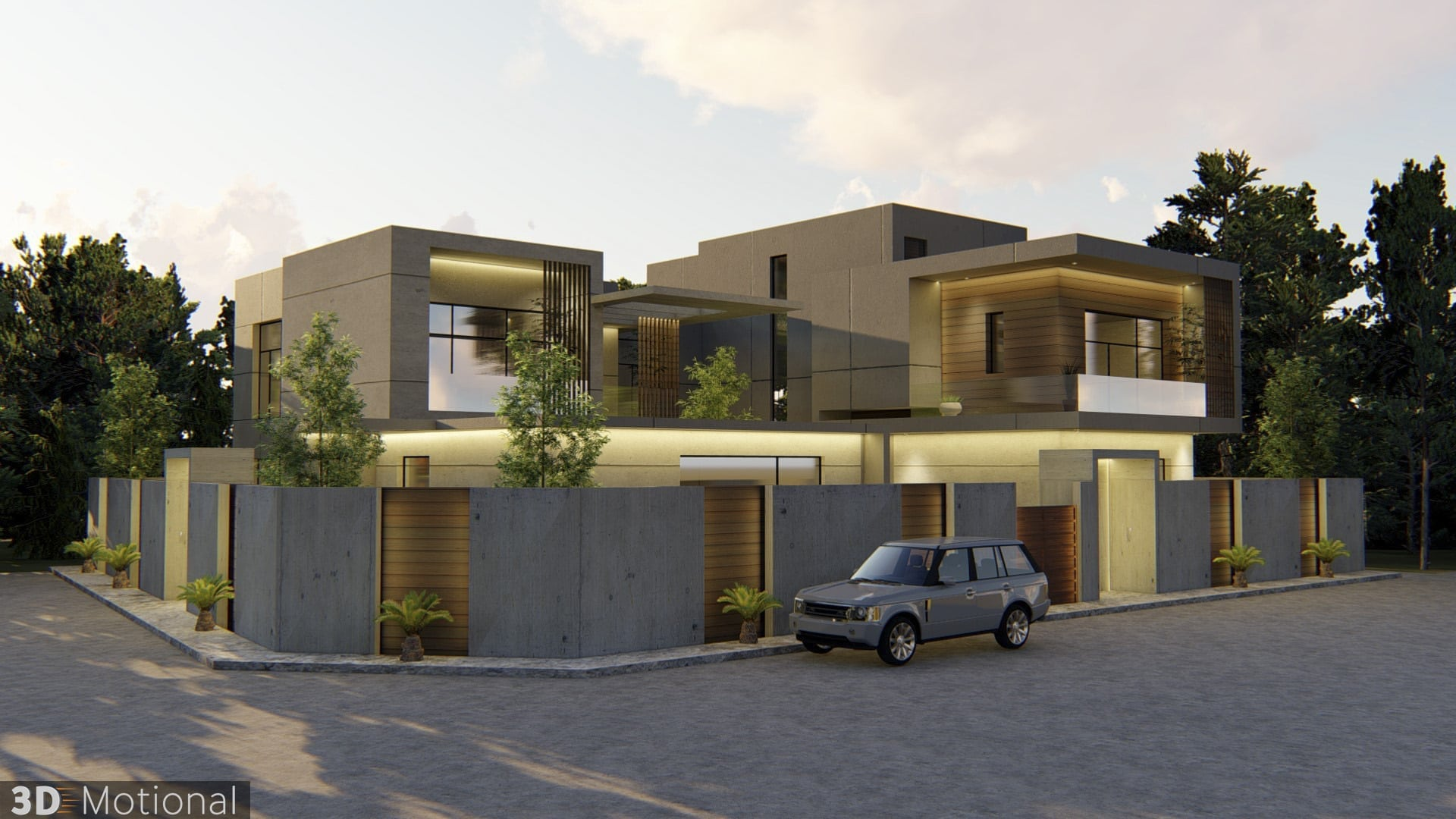 Modern Private Villa Exterior Animation - Al Khobar (6)