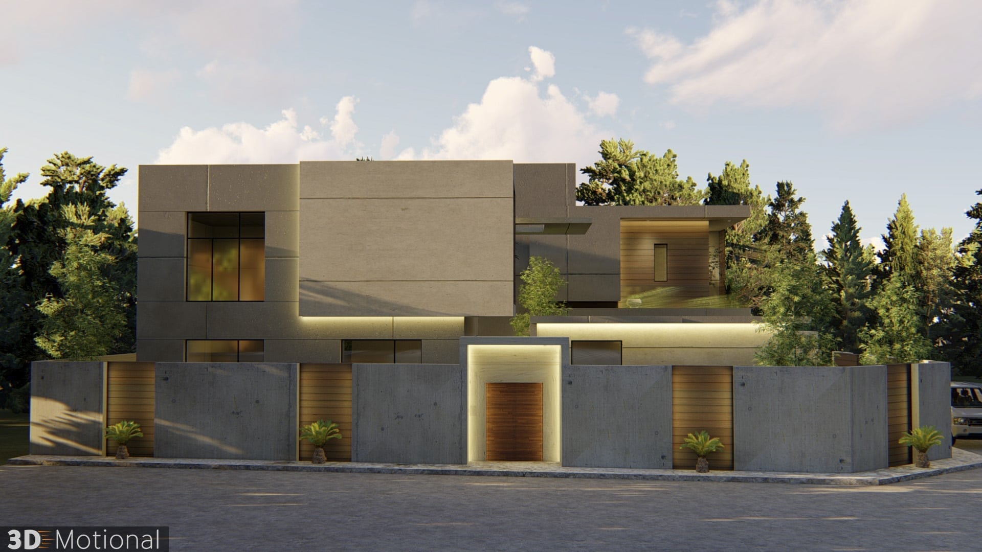 Modern Private Villa Exterior Animation - Al Khobar (8)