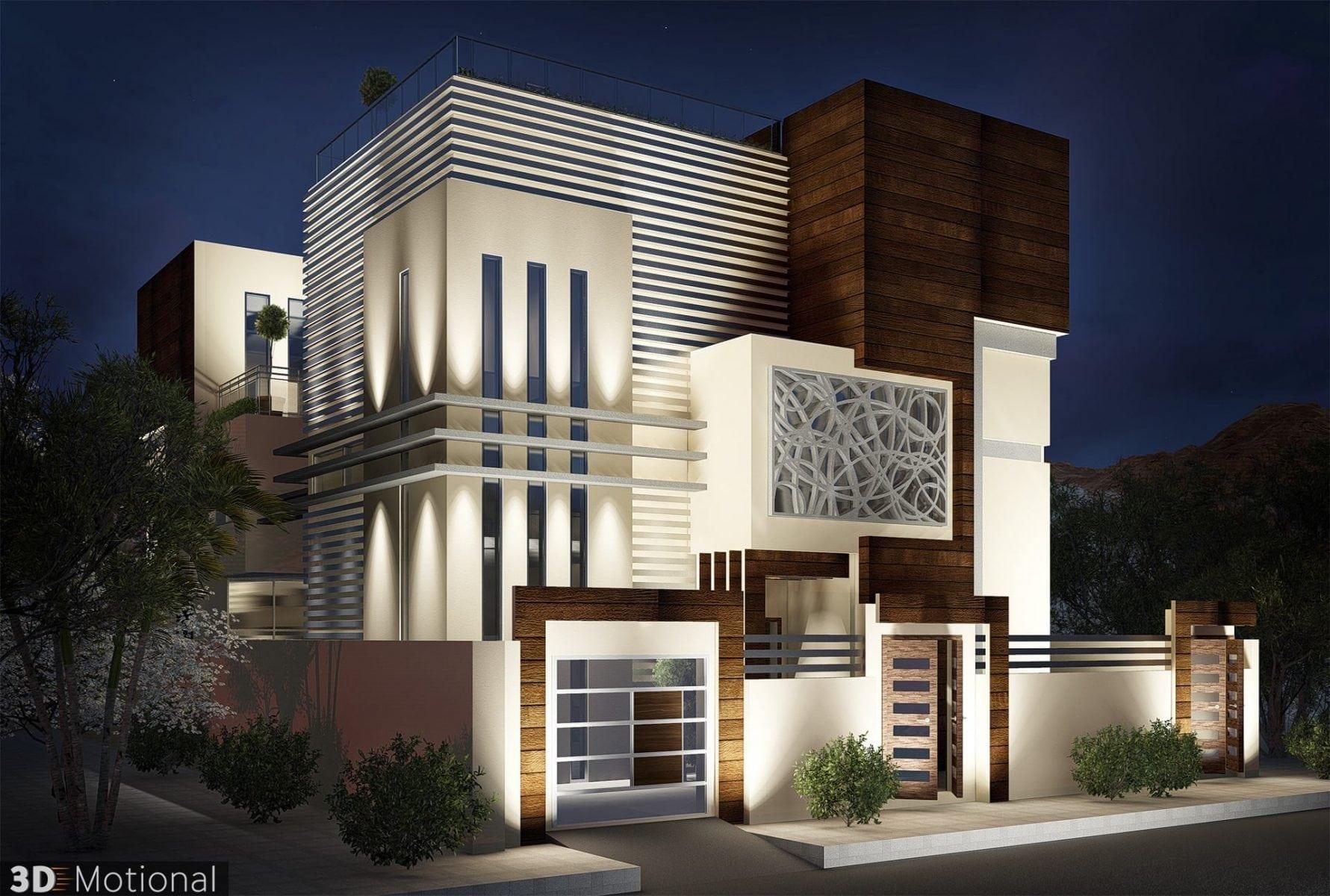 Modern Private Villa Exterior Animation - Riyadh (3)