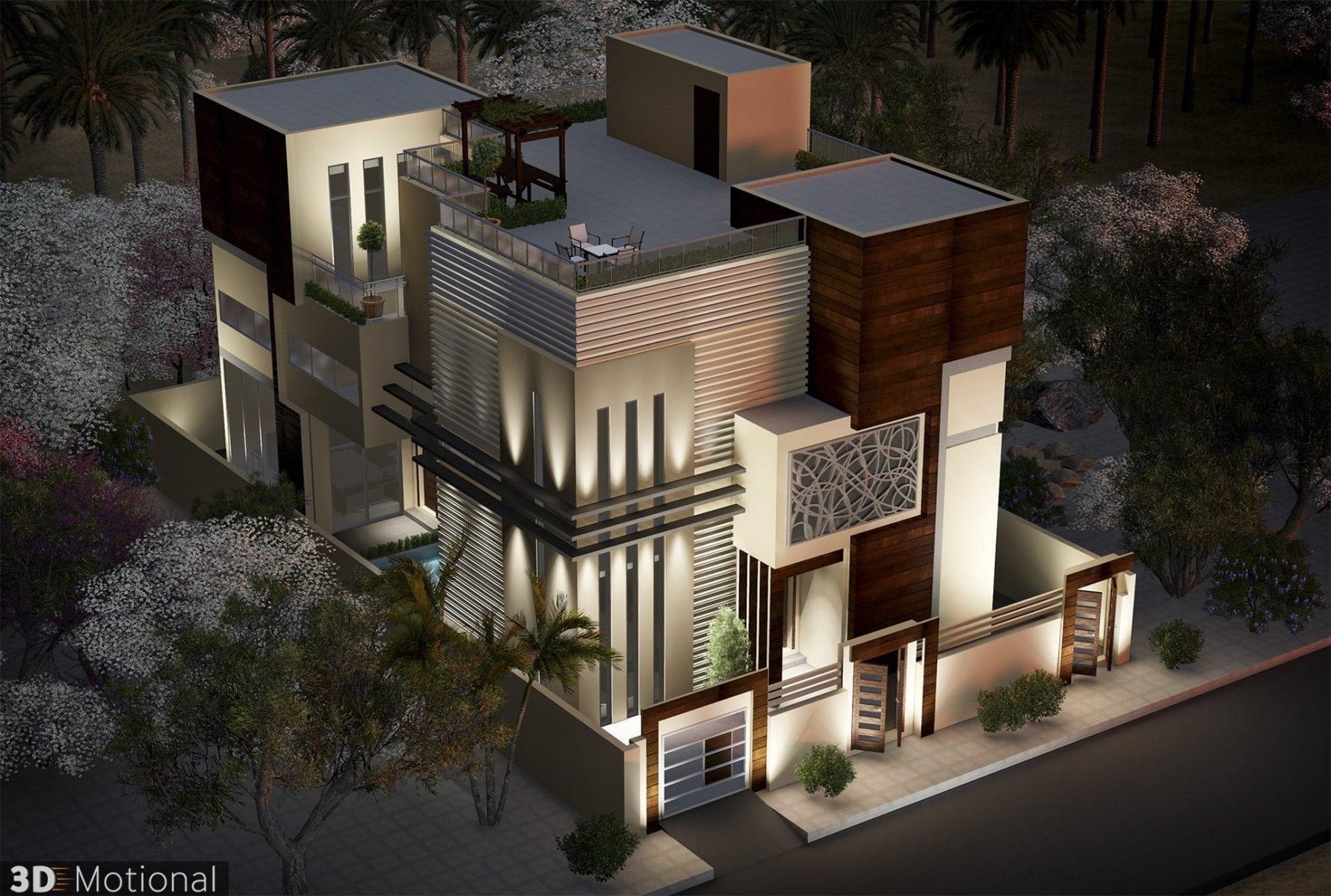 Modern Private Villa Exterior Animation - Riyadh (4)
