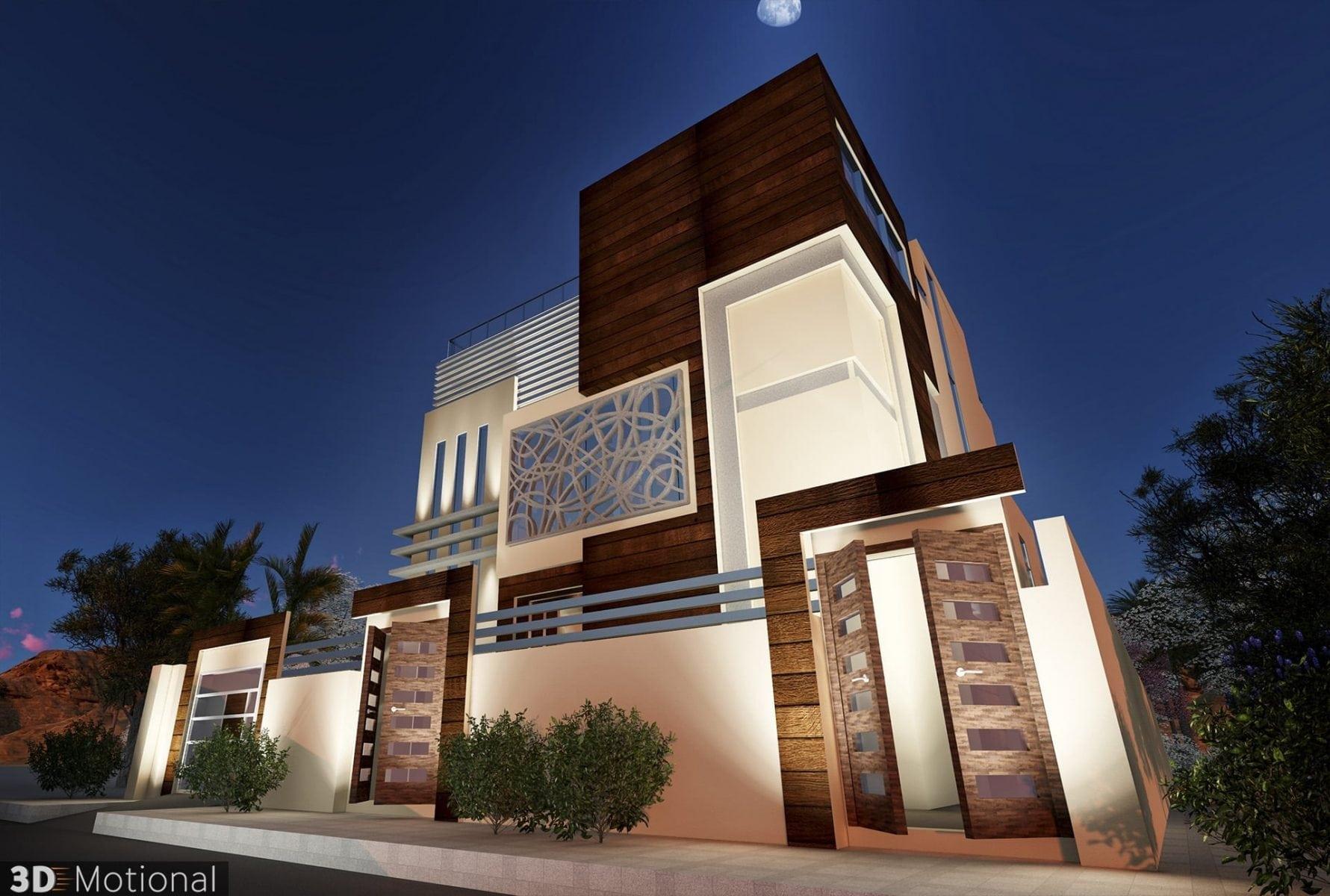 Modern Private Villa Exterior Animation - Riyadh (5)